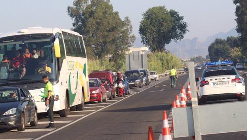 Multados 13 conductores por drogas y alcohol en la N-332 donde murieron 4 ciclistas