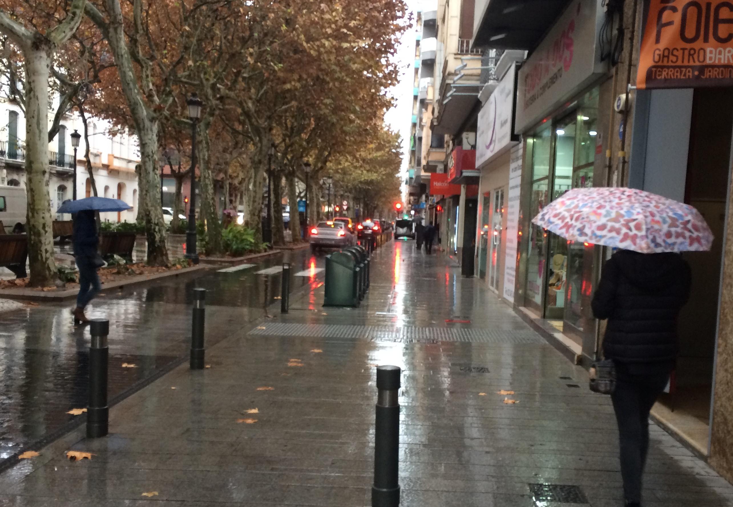 Día de lluvia generalizada en la comarca de la Safor tras más de un mes sin lluvias importantes