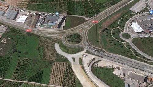La rotonda de la N-332 de acceso a Bellreguard y Gandia estará cortada dos días por la mañana