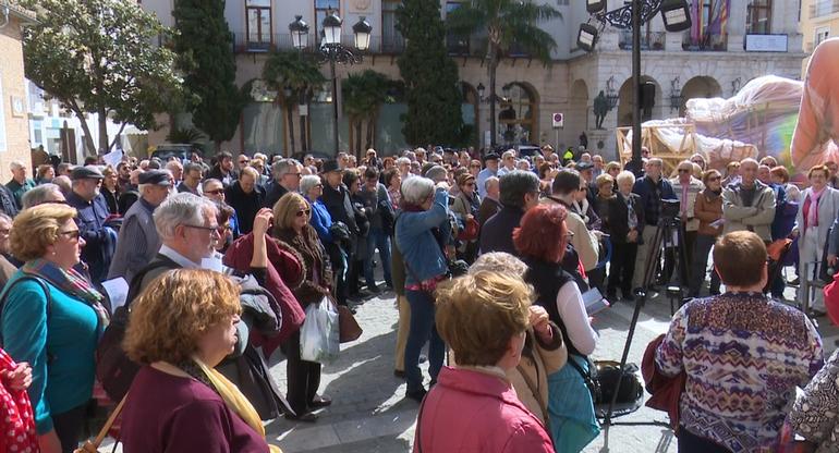 Concentración de jubilados en Gandia para exigir unas pensiones dignas