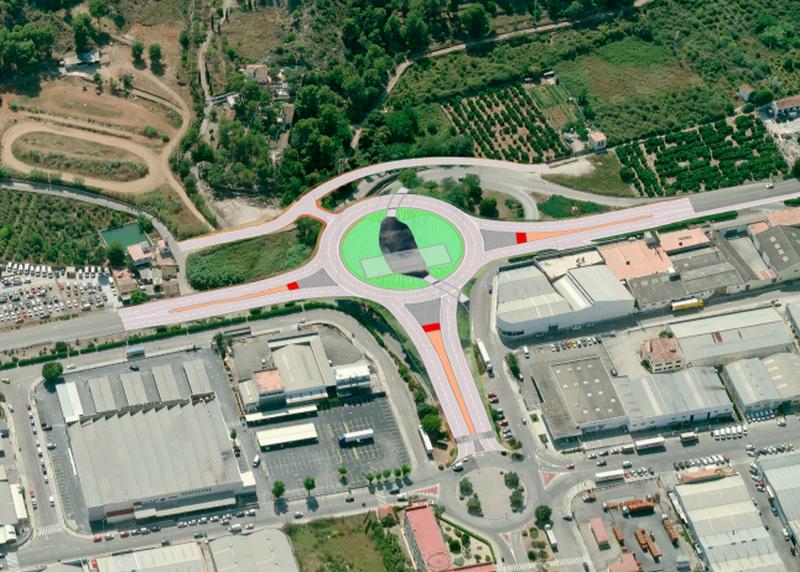 Comienzan las obras de la nueva rotonda de acceso al polígono Alcodar de Gandia