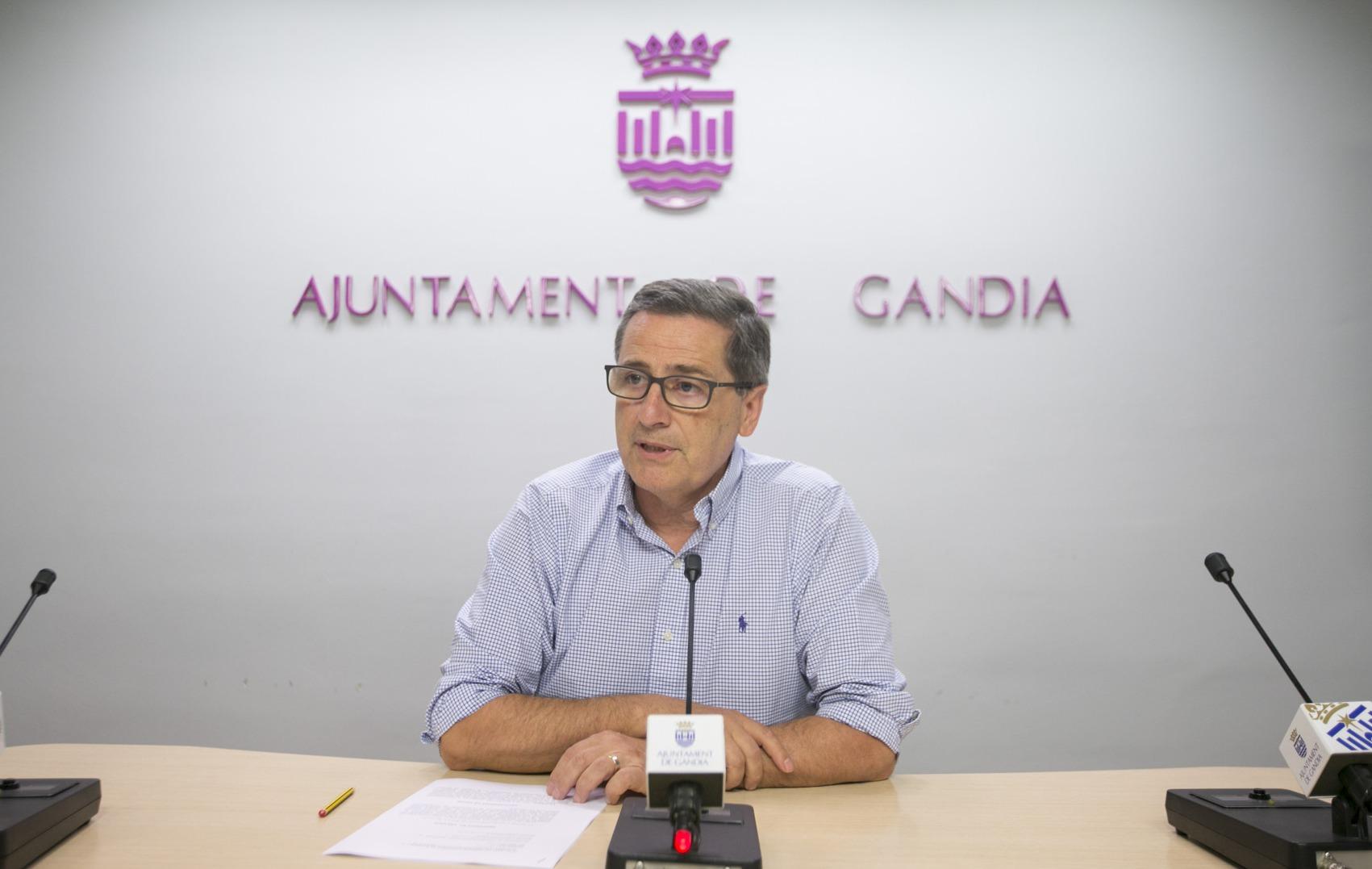 El Ayuntamiento de Gandia reduce la deuda del consistorio en 65 millones de euros