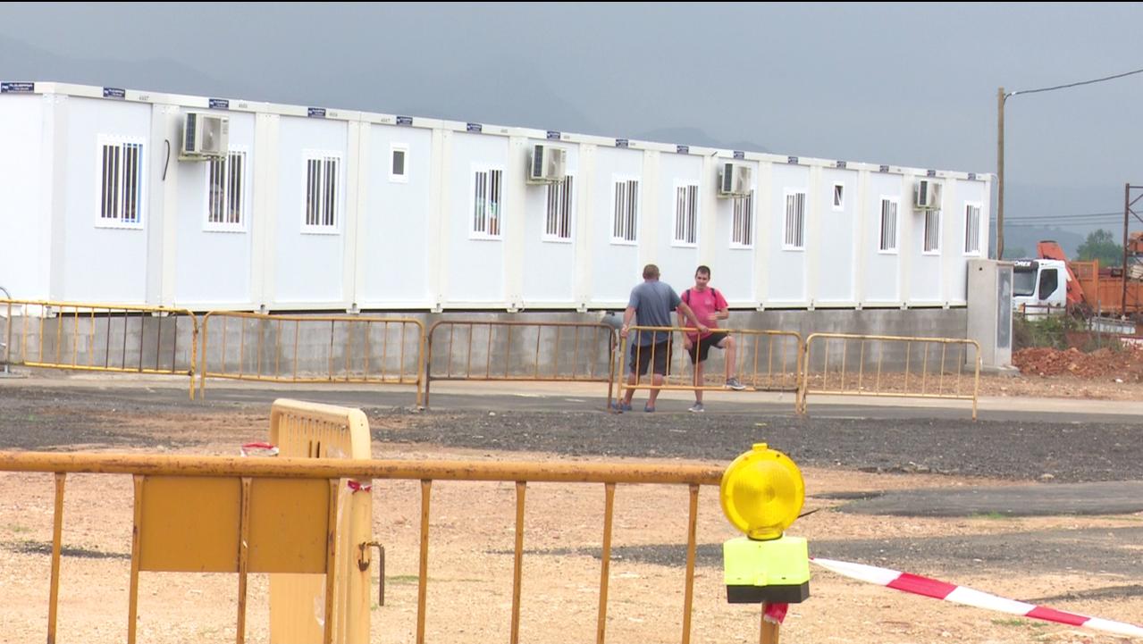 Deficiencias en las aulas prefabricadas instaladas en La Font d'En Carròs