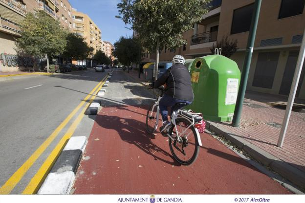 Más carril bici en Gandia con inversión europea