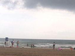 playa gandia lluvia
