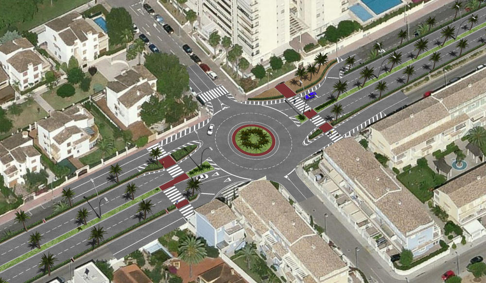 El nuevo bulevar en la carretera Nazaret-Oliva de la playa de Gandia será realidad en un año