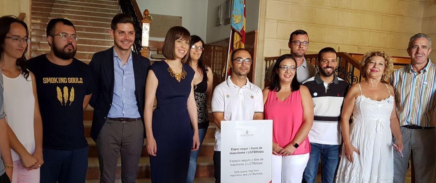 El Ayuntamiento de Gandia se declara un espacio libre de machismo y LGTBI fobia